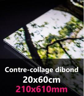 CONTRE-COLLAGE DIBOND 20x60