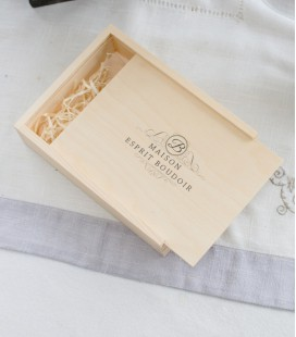 WOOD BOX  SIGNATURE 13x18