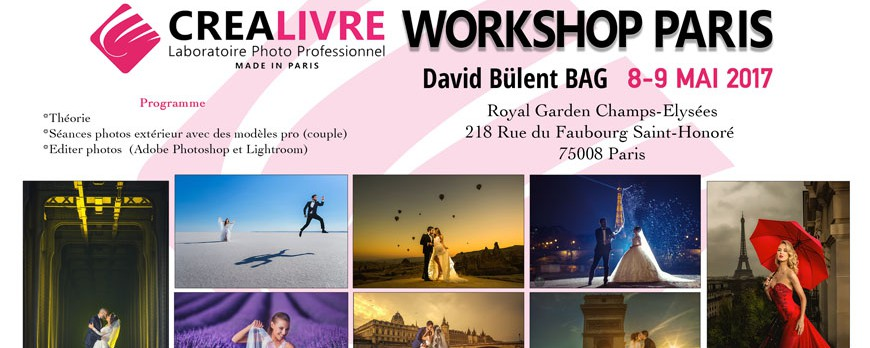 Workshop David Bulent à Paris les 8-9 Mai 2017