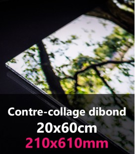 CONTRE-COLLAGE DIBOND 20x60