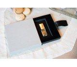 BOÎTE USB LIN GRIS CLAIR