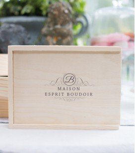 WOOD BOX SIGNATURE 13x18 + EMPLACEMENT USB