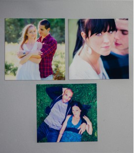 MAGNETS PHOTO 10x10 Metal x3