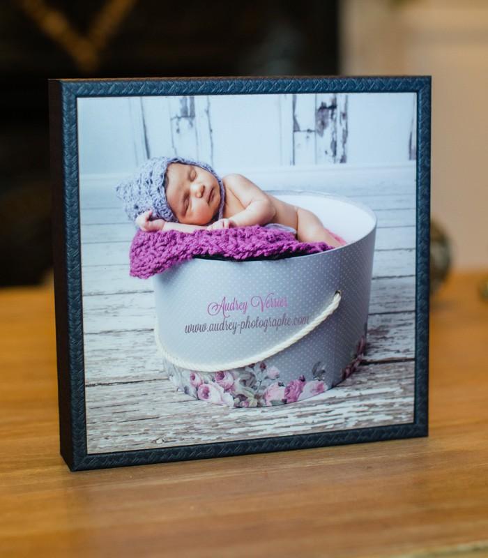 cadre box bleu 20x20 crea livre labo photo pro paris. Black Bedroom Furniture Sets. Home Design Ideas