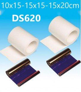 DNP KIT D'IMPRESSION DS620 10X15CM / 15X15CM / 15X20CM